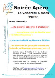 Soirée Apéro, 6 mars 2020 @ UDAF de la Mayenne